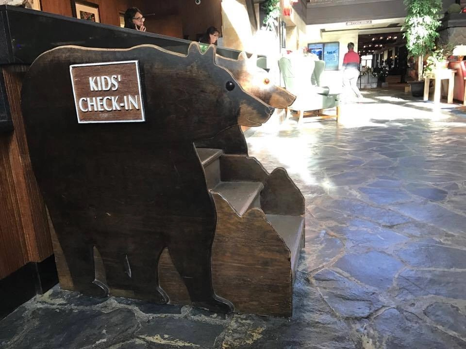 Kids will love the kid check in stand at Tenaya Lodge. Yosemite Resorts