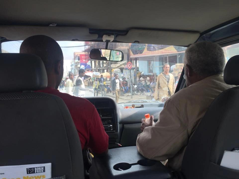 Backseat view, Ethiopia