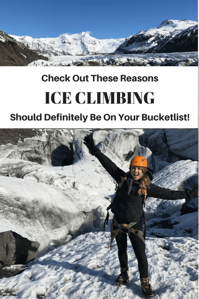 Ice Climbing with Icelandic Mountain Guides in Iceland.