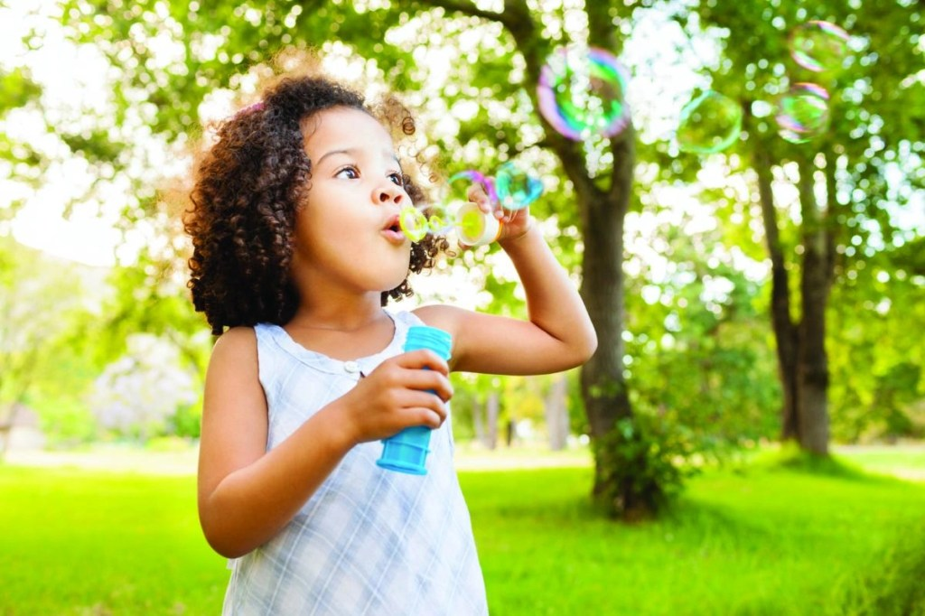 Pack bubbles to help entertain kids in lines