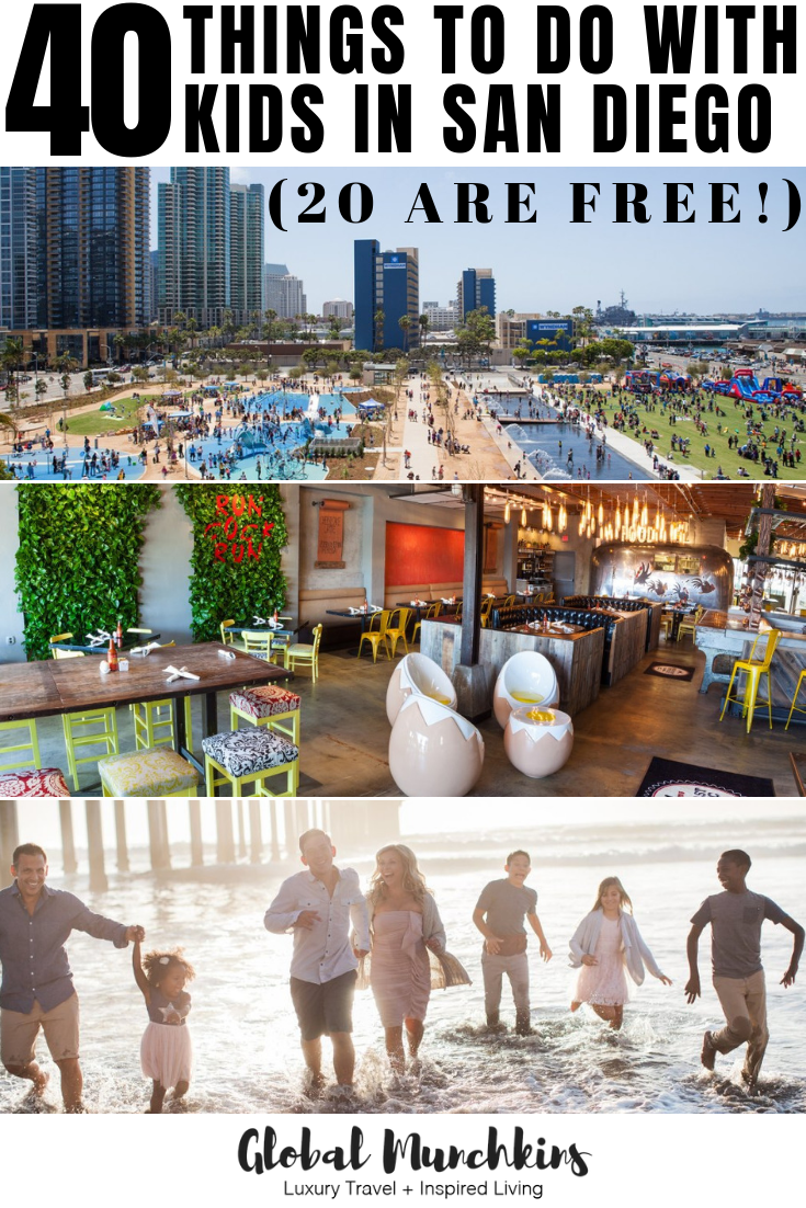 There are plenty of things to do with kids in San Diego, with over 70 miles of gorgeous coastline, beautiful state parks, hiking trails, and tons of kid-friendly attractions and restaurants. Check out this list of top 40 things to do with kids in San Diego! #guide #travel #travelwithkids #sandiego #familyvacation #vacation #family #kidfriendly #travelguide #traveltips
