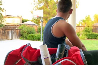 Teach your teen how to spray AXE Body Spray on the right way. Tutorial + Must Have Gym Bag Essential Check List