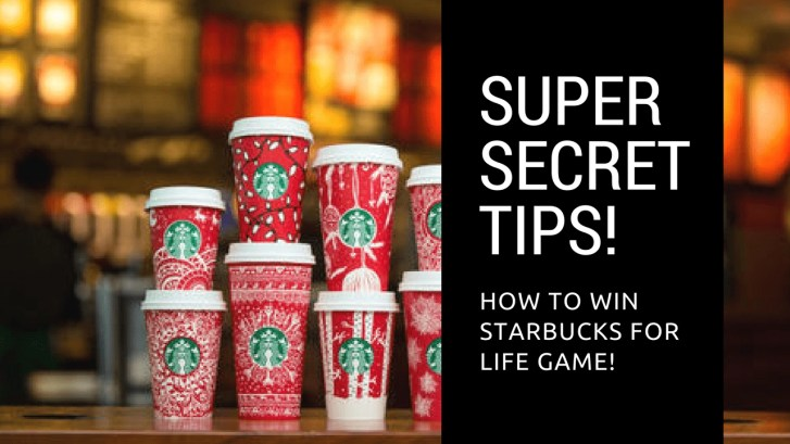 Super Secret tips starbucks for life