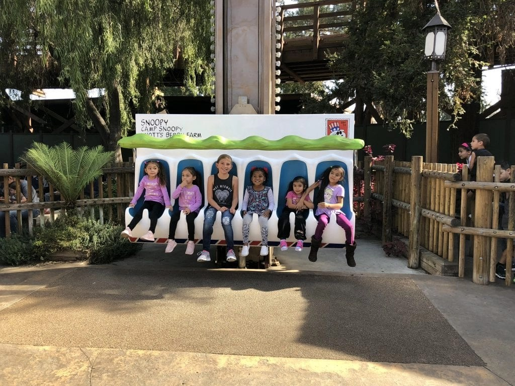 Knottt's Berry Farm Snoopy Rides