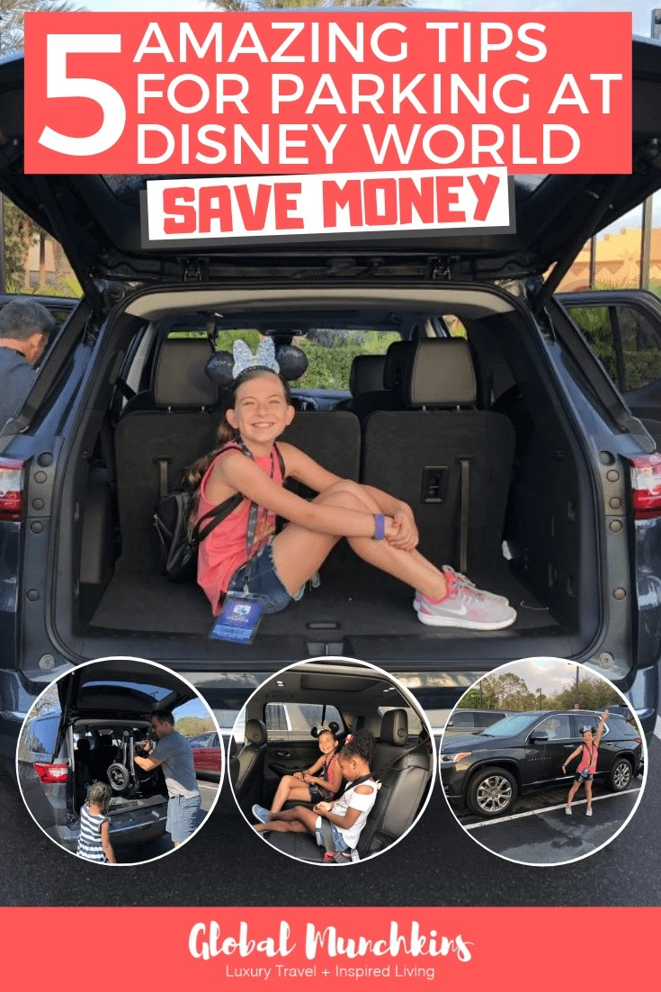 Are you considering driving a car and parking at Disney World? Then this article is just for YOU! I have some AWESOME tips to help you save money and enjoy your vacation even more. This article is perfect for families considering renting a car as well as families who drive to Disney World in their own vehicle. You will learn the benefits of using your car to get around the Walt Disney World Resort while spending the least amount of money doing so. #parkingatdisney #disney #disneyworldresort #waltdisney #tips #helpfultips #guide #savemoney #moneysaving