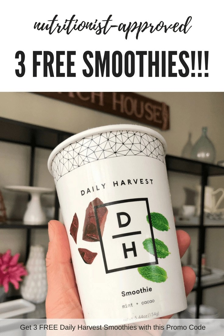 Get 3 FREE Smoothies! Daily Harvest Promo Code. Delicious Daily Harvest Smoothies that are nutritionist-approved delivered straight to your door frozen so they are ready to use when you are ready. Score 3 FREE with this promo code. Click through to post to grab your code NOW! #dailyharvestpromocode #smoothiecups #healthysmoothies #smoothies #promocode #freesmoothies