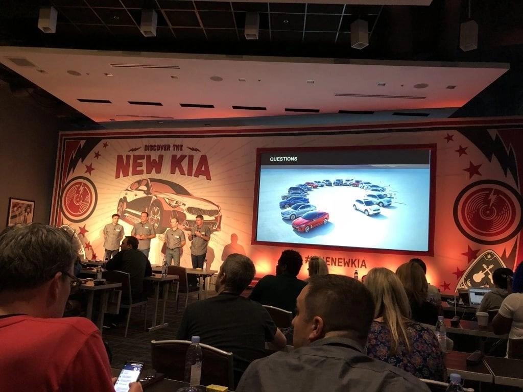 2018 Kia Ride + Drive Event featuring the Kia Stinger