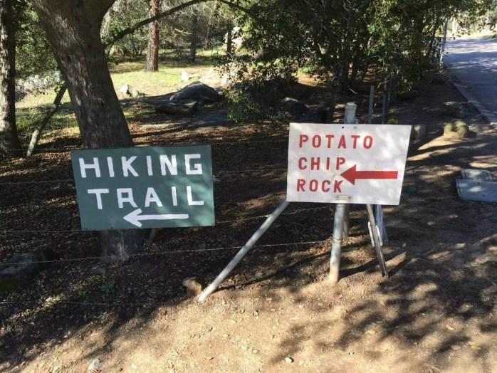 Potato Chip Rock Hike Signs