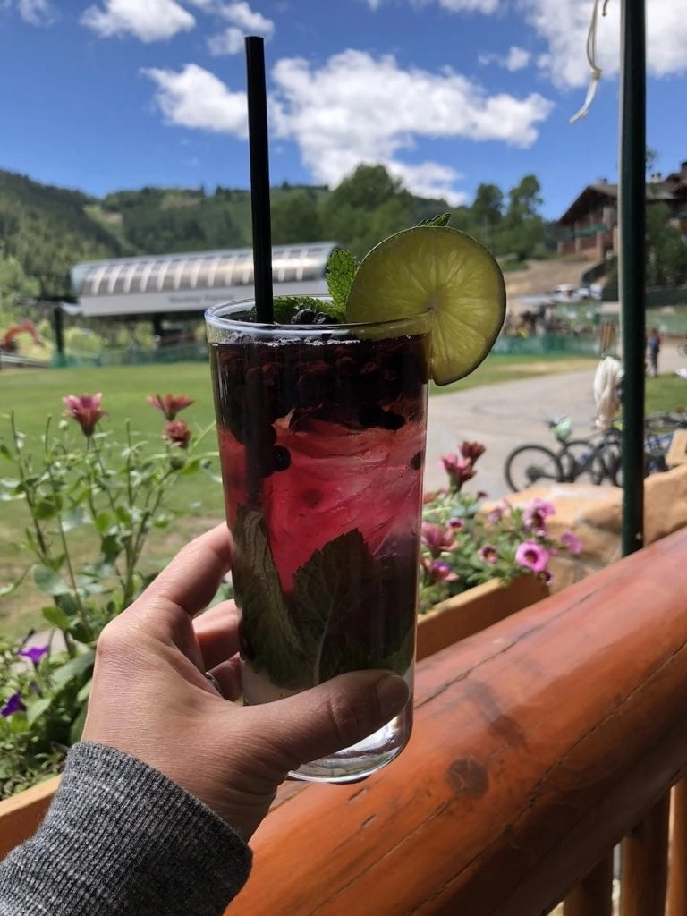 Blueberry Mojito - Royal Street Cafe