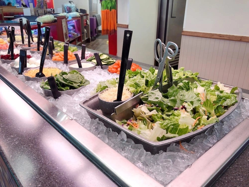 Chuck E Cheese Salad Bar