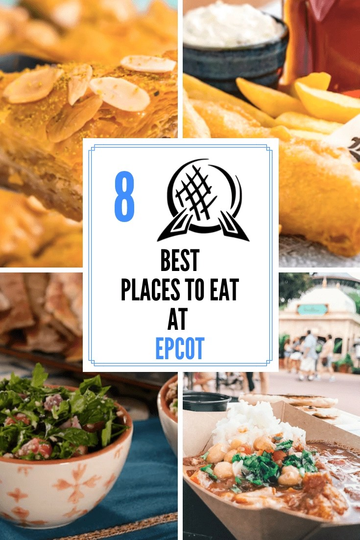 The 8 Best Epcot Quick Service Dining Options - A world of Deliciousness! At Epcot, food is definitely one of the highlights of visiting the park. So, here are the 8 best Epcot quick service dining choices Epcot #disneydining #disneyworld