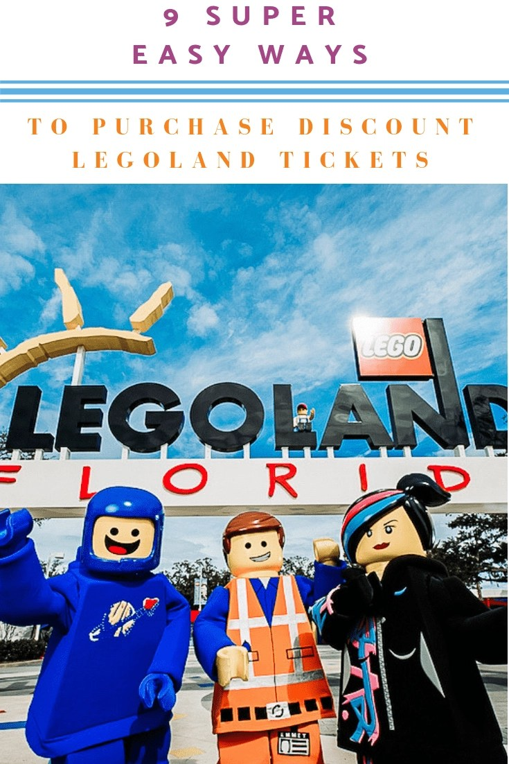 9 [Super Easy Ways] to Purchase Legoland Florida Discount Tickets! Traveling with a family can be pricey and Legoland is not the cheapest park in the world. Here are 9 Easy Ways to Purchase Legoland Florida Discount Tickets. #legoland #legoland Florida
