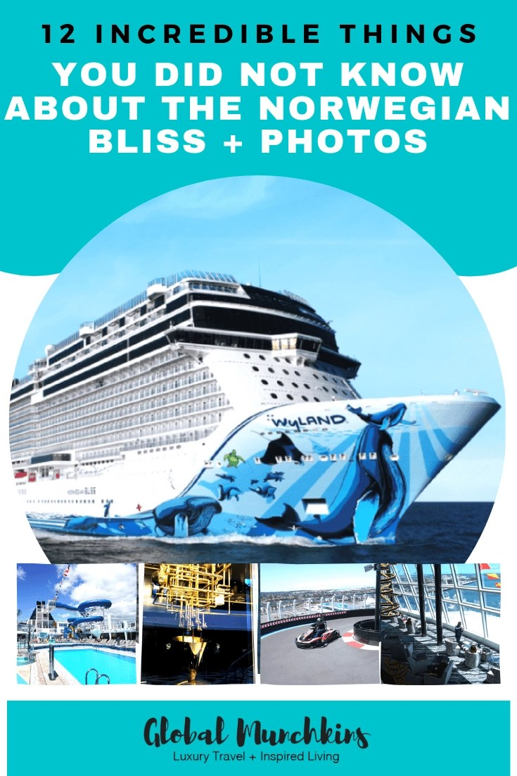 Check out these 12 incredible things you did not know about the Norwegian Cruise Lines bliss plus photos! #NCL #cruise #norwegiancruiselines #travel #cruisetips #vacation #review