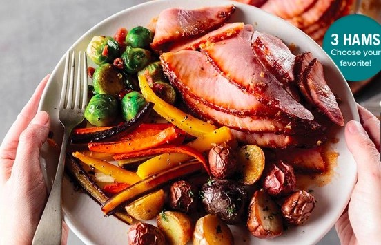 Order a spiral sliced ham from Omaha Steaks for a delicious and simple Easter menu.