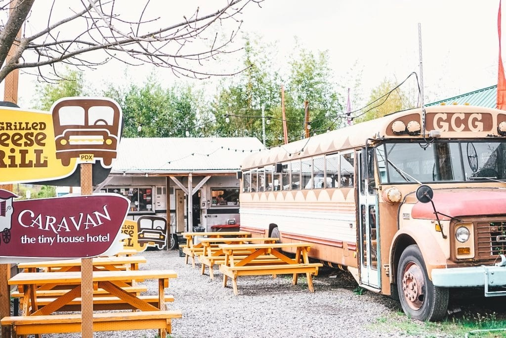 Weird Things to do in Portland - Dine on a School Bus