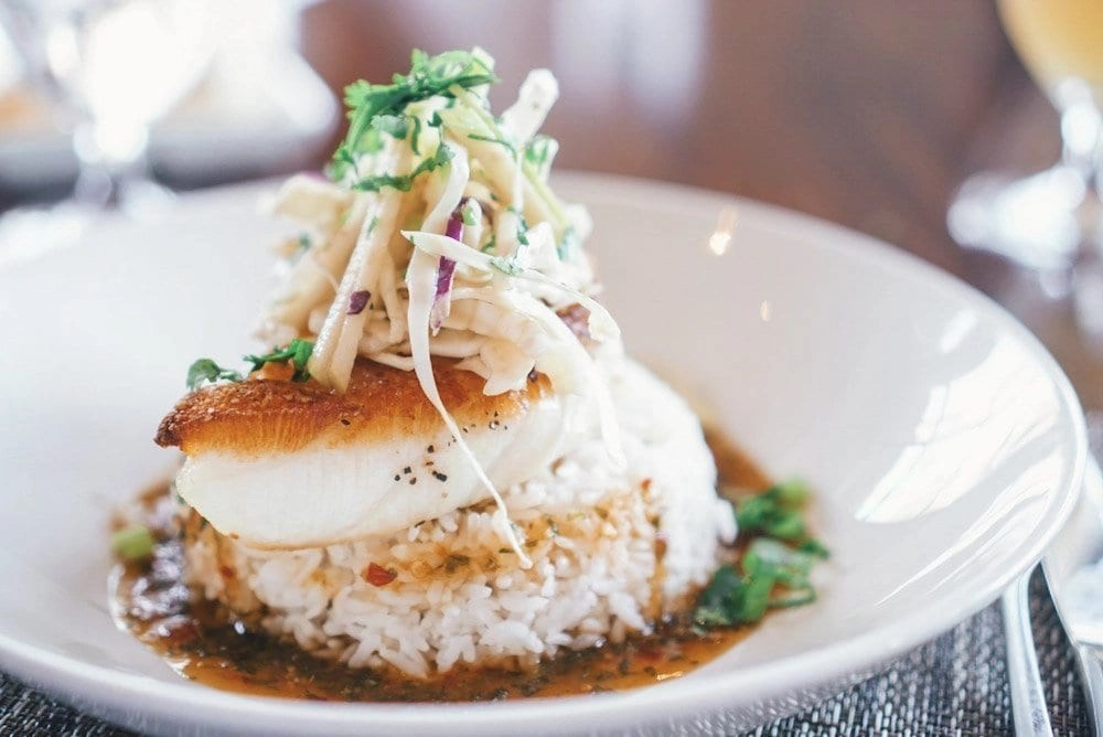 Chilean Sea Bass at bluEmber in Palm Springs