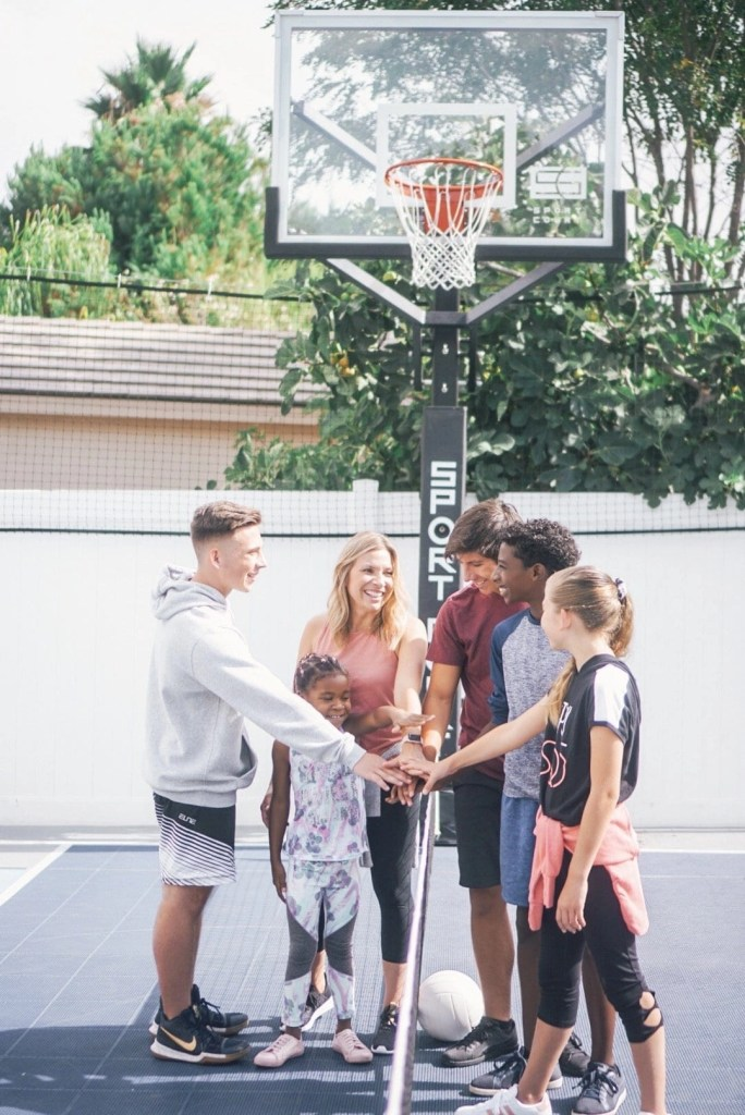 Sport Court Multi Game Backyard Court. Backyard basketball court