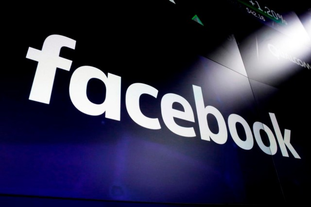 File photo shows the logo for social media giant Facebook at the Nasdaq MarketSite in New York's Times Square. (AP Photo/Richard Drew, File)