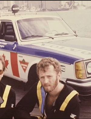 Ken Langley (left) and Garry Sowerby (right) in Toronto before they departed on their record-breaking journey.