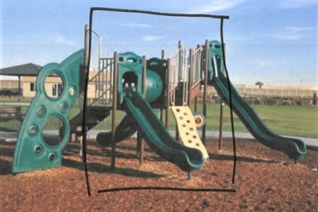 A playground set was reported missing from Tierra Vida Park in Pasco, Wash., in December 2020.