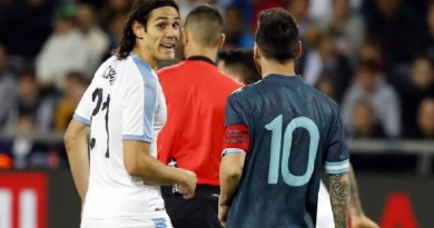 Watch Argentina vs Uruguay Highlights as Cavani Challenges Messi