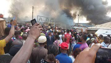 BREAKING: Angry residents set ablaze the Church where One-year-old Child Went Missing In Ondo (Video)