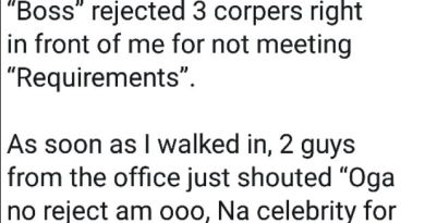 A Twitter User Reveals How Three NYSC Members Were Rejected For Not Meeting Requirements