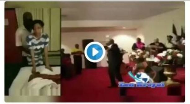 Popular Ghana Pastor Caught Touching Down With A Female Church Member After Service (Video)