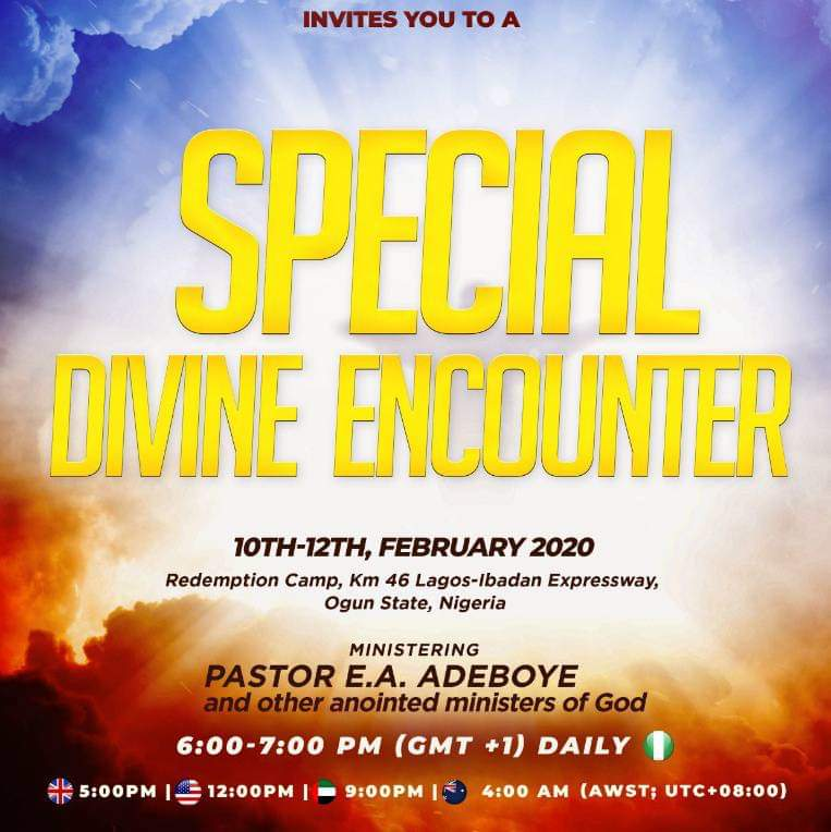 Watch Live Streaming Of RCCG SPECIAL DIVINE ENCOUNTER 2020