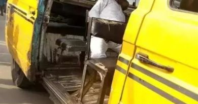 Tension as a passenger died on the commercial bus in Lagos (Photos)
