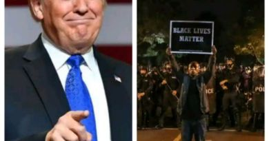 Black Americans allegedly react as president Trump calls the black protesters THUGS