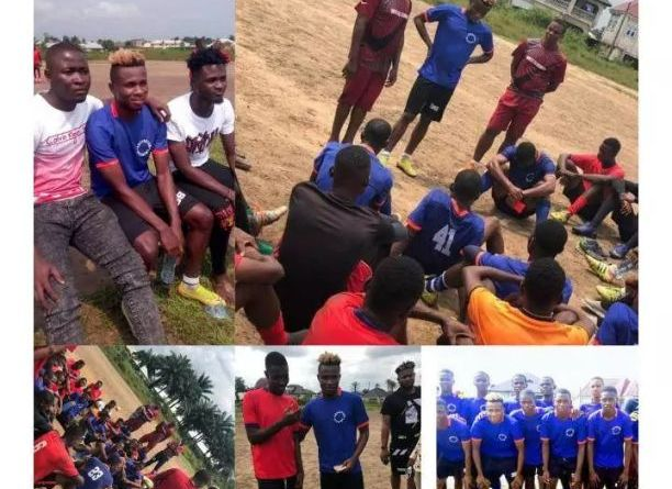 Nigerians react as Samuel Chukwueze trains with Superstars academy and gift them cash in Uyo