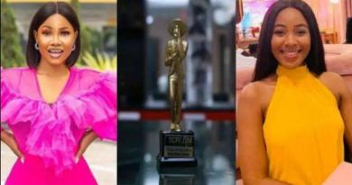 BBNaija: Tacha congratulates Erica on winning her first scream award