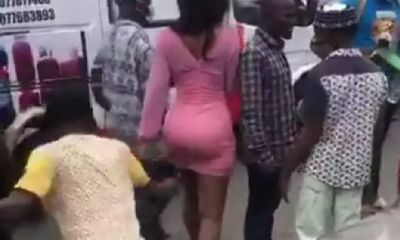 Mixed reaction as Nigerian lady publicly disgrace in Computer village (Photos)