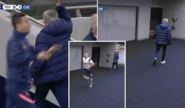 Football fans react as Eric Dier left the field to toilet during Carabao Cup match against Chelsea