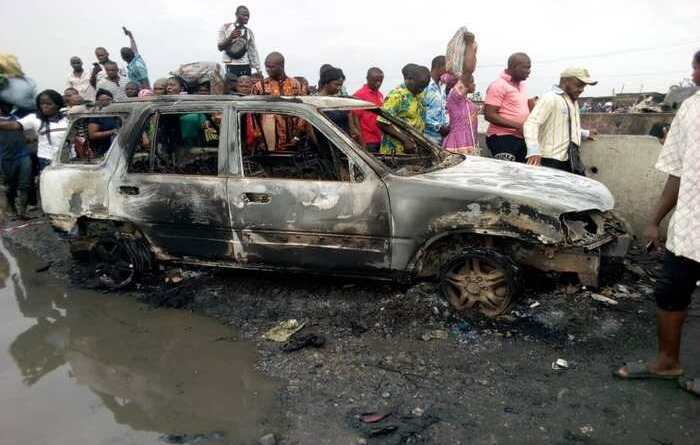 NSCDC officer, 2 others set ablaze in Badagry motorcycles accident
