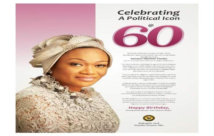 Sanwo-Olu felicitates with Senator Oluremi Tinubu on her 60th birthday