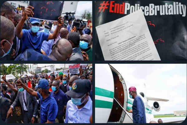 Just IN: Gov. Sanwo-Olu joins End Sars protest at Alausa Ikeja in Lagos (photos)