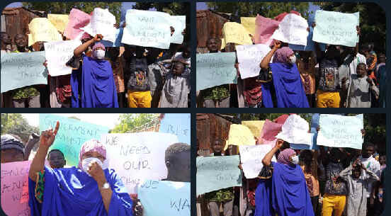 BREAKING: Protests rock Katsina over abducted 333 Kankara schoolboys