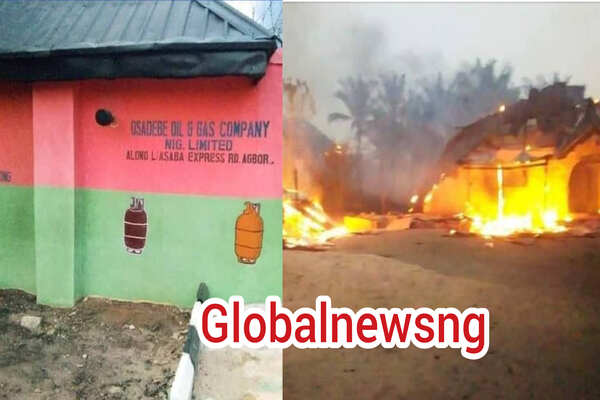 Several feared dead, many injured, houses burnt as gas plant explode at Agbor, Delta State