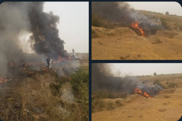 BREAKING: Military aircraft King Air 350 crash at Abuja airport killed all onboard