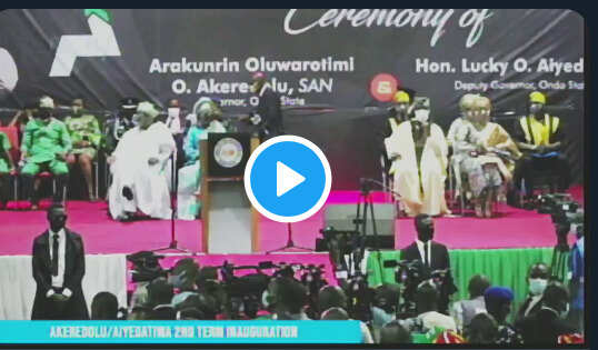 Oluwarotimi Akeredolu sworn in second term as Ondo state governor