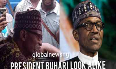 Nigerians allegedly react as president Buhari look alike spotted driving bus in Lagos