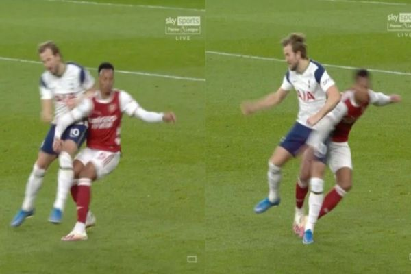 Arsenal Fans Accuse Referee Why Kane Did Not Sent Off On Brutal Challenge On Gabriel