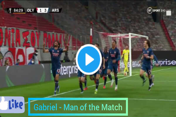 Olympaicos 1-3 Arsenal Full Highlights: Gabriel Wins Man Of The Match