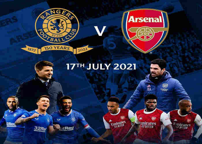 Arsenal to play Rangers on July 17