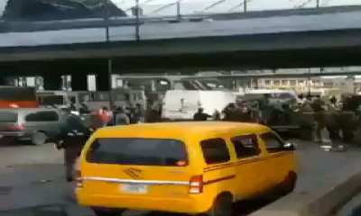 Soldiers take over Oshodi to avenge the death of fellow officer in Lagos
