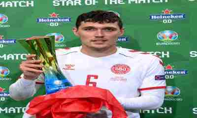 Andreas Christensen gets Star of the match in Denmark 4-1 win over Russia