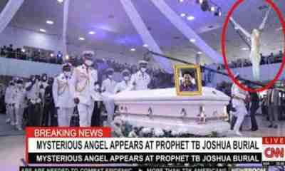 Mysterious Angel appears at Tb Joshua Burial (Video)