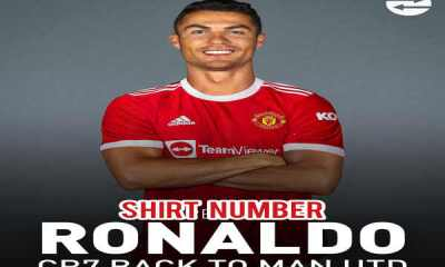 List of jersey number available for Cristiano Ronaldo in Manchester United